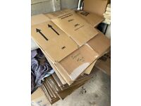 c. 50 double walled cardboard boxes