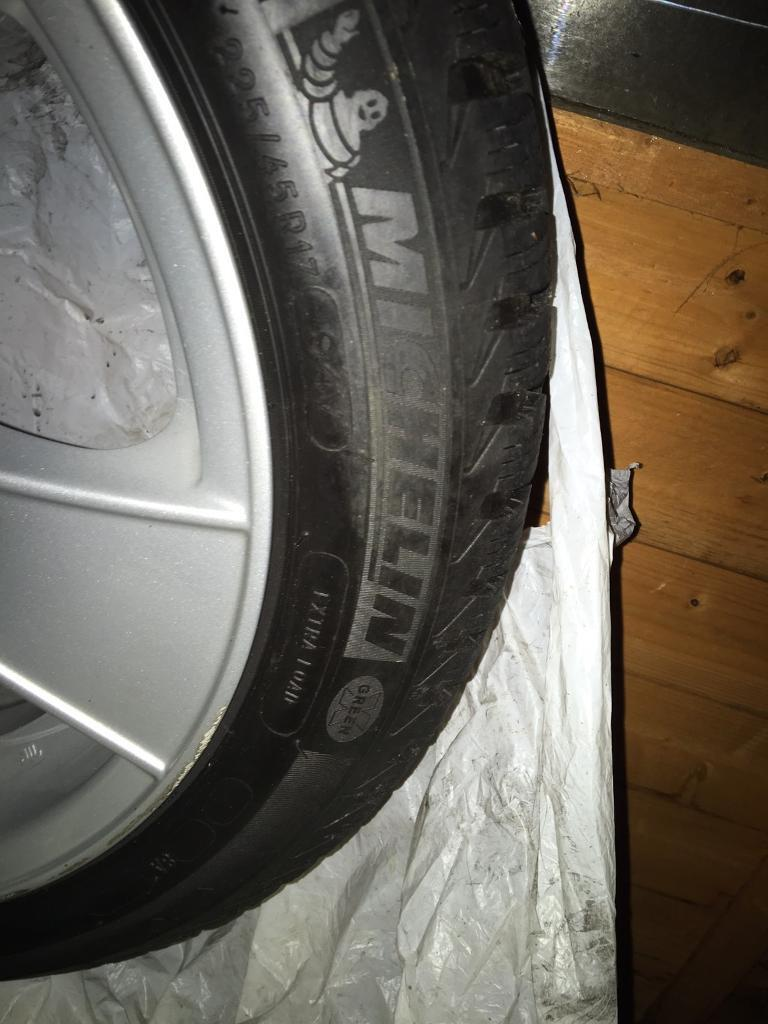"""4 Alutec 17"""" alloy wheels, with Michelin tyres,"""