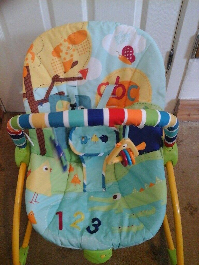 Bright Starts infant to toddler rocker.