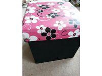 Lovely storage box / Kids Pouffe (soft stool)