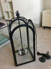 Handmade Wrought Iron Lantern - Large