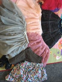 Bundle of girls skirts Zara next h&m