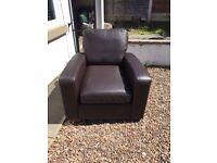 Next brown armchair