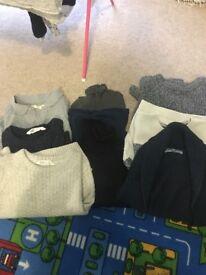 Bundle of boys tops/jumpers