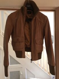 Tan leather jacket for sale