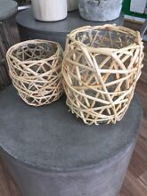 Glass and Wooden Candle Holders Engadine Sutherland Area Preview