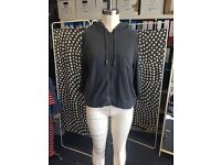 Lightweight, short-sleeved hooded WHISTLES cardigan, Size 12/M