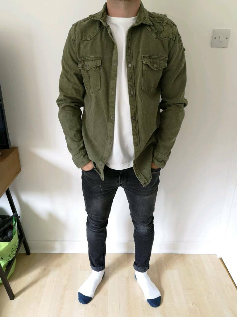 1acffc77 Men's Zara green khaki denim shirt jacket size M | in Bearsden ...