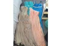 5 lovely evening gown ball dresses bundle some backless women's / ladies dress size 10
