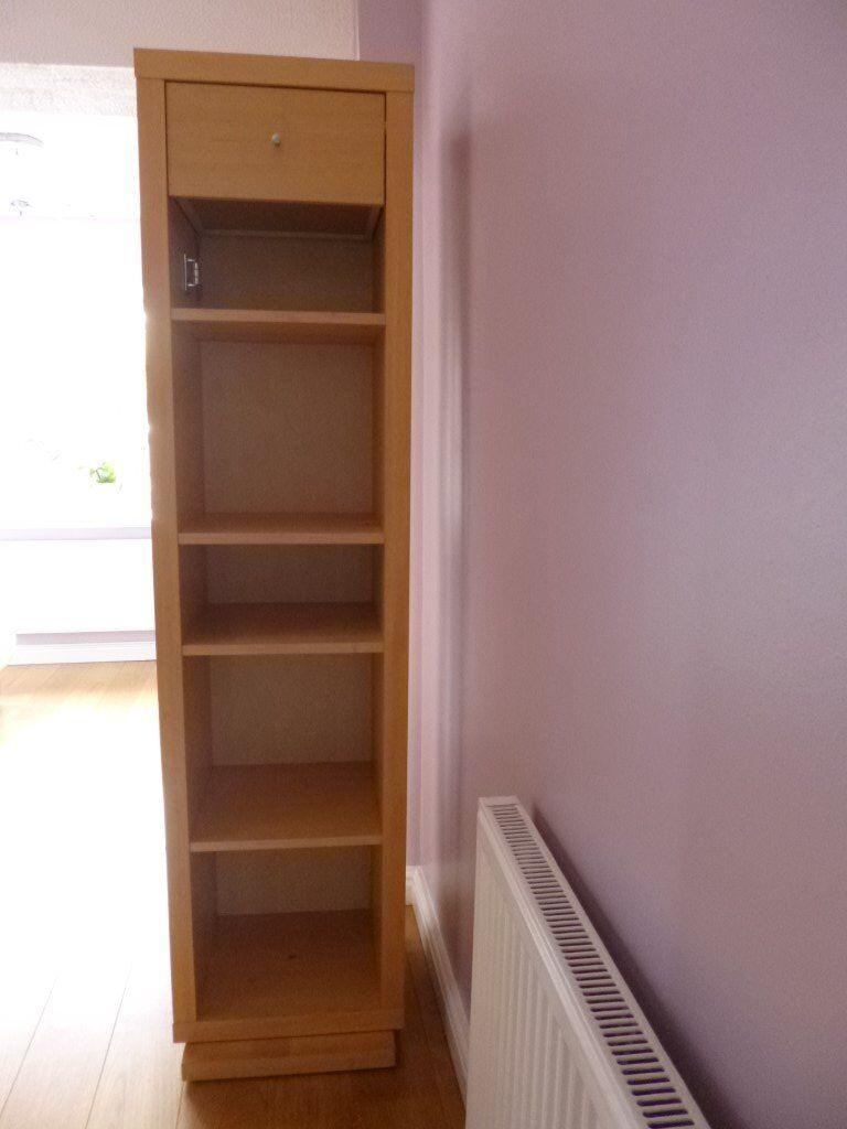 Revolving Mirrored Cabinet Bookshelf
