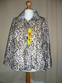 Glamorosa animal print jacket