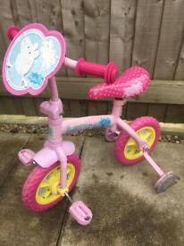 Peppa pig 10 inch 2 in 1 training bike