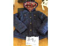 Blue zoo girl coat 8-9 years