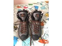 Scarpa manta pro size 10.5 and Grivel g12 crampons both brand new condition