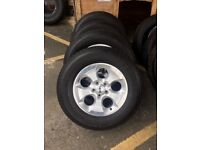 Chrysler Jeep Alloy Wheels With Tyres Polished Chrome