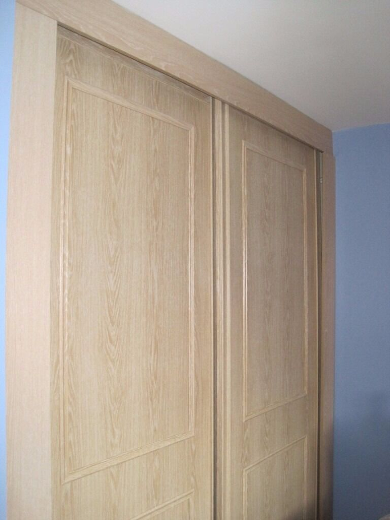 Sliding Wardrobe Doors X 2 Beech Stanley From Bq In Uttoxeter