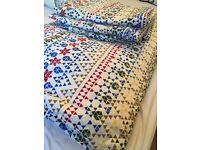 IKEA double quilt cover with 4 pillow cases