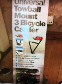 Universal towball mount 3 bicycle carrier