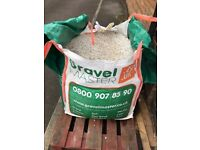 Polar White 10mm Gravel pathways, garden, decorative stone