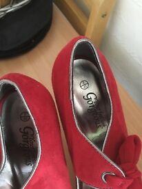 Red new look heels size 7