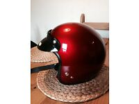 Spada Metallic Cherry Red Open Face Helmet M