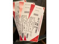 Beyoncé and Jayz tickles Cardiff 6th June great seats lower tier close to stage