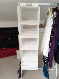 Hanging wardrobe organizer