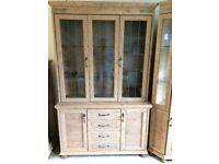 2 Piece Rustic Pine Kitchen Farmhouse / Dresser Unit By Caxton Furniture.