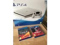 Brand New sealed white slim PS4 + 2 games Full warranty and receipt
