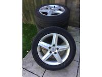 4 x 16inch Seat VW Mercedes Alloys and Tyres 5 x 112