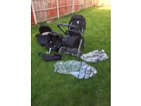 Oyster travel system in black with maxi cosi car seat