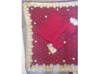 Red Saree/ sari Asian suit