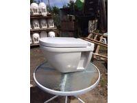 Nicholls & Clarke Wallhung Wall Hung Toilet & Soft Close Lid Seat - White