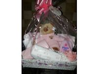 New baby Gift basket available blue or pink