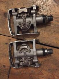 Shimano hybrid M324 spd pedals