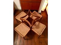 Set Of Four Mid Century Danish Mogens Kold Teak Dining Chairs