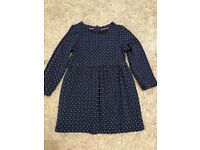 Girls navy spotty dress 18-24 months