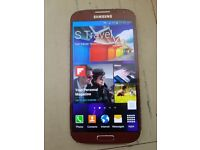 Red samsung S4 limited edition £65
