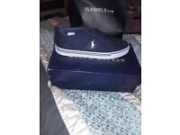 Brand new never worn GENUINE Ralph Lauren polo trainers size 7