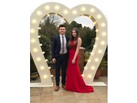 Wedding hire 8ft light up love heart arch backdrop