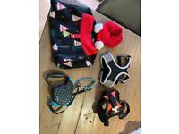 Puppy/small dog harnesses, lead, fleece