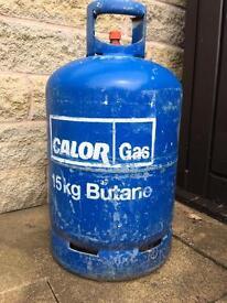 15kg Butane Calour gas bottle full