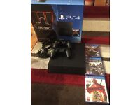 Boxed PS4 500gb with 2 controllers and 3 games