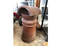 Clay chimney pot set