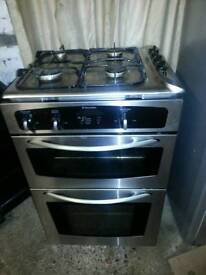 Electrolux built in electric double fan oven and grill with gas hob