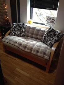 Double bed futon. Very comfortable!