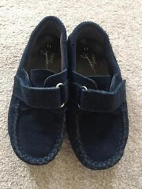 Next signature blue suede loafers