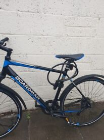 Blue boardman bike