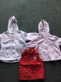 Girls coats / waistcoat £15