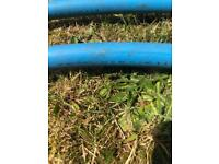 Blue mains water pipe. 32mm, collection only